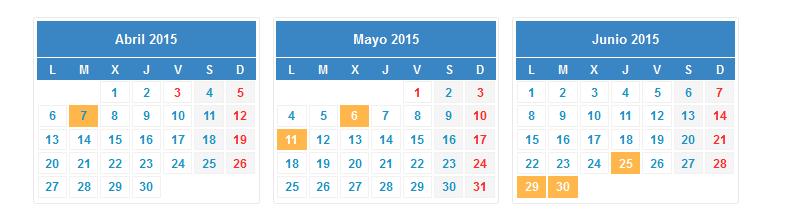 calendario renta 2014